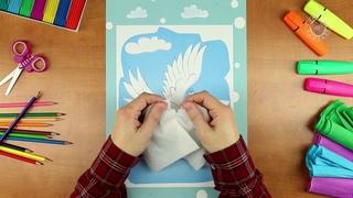 Раскрашивание, Лепка, Аппликация 2+ 01 Голубка почтальон