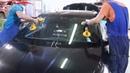 Процесс замены лобового стекла на примере Хендай солярис