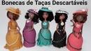 DO LIXO AO LUXO - Bonecas de TAÇAS DESCARTÁVEIS