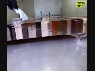 Столешница из разных пород дерева - процесс изготовления - vk.com/bg.remont