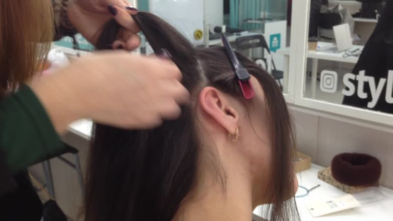 Коса на бок с искусственными прядями 2