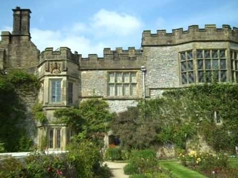 Haddon Hall, Derbyshire. Known as Thornfield Hall in the BBC Series of Jane Eyre