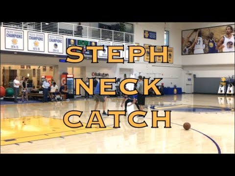 Steph Curry neck catch and splashes from practice in Oakland, day before 2018 WCF G4