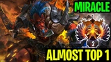 Almost Top 1 - Miracle- Grinding In Rank Troll Warlord - Dota 2