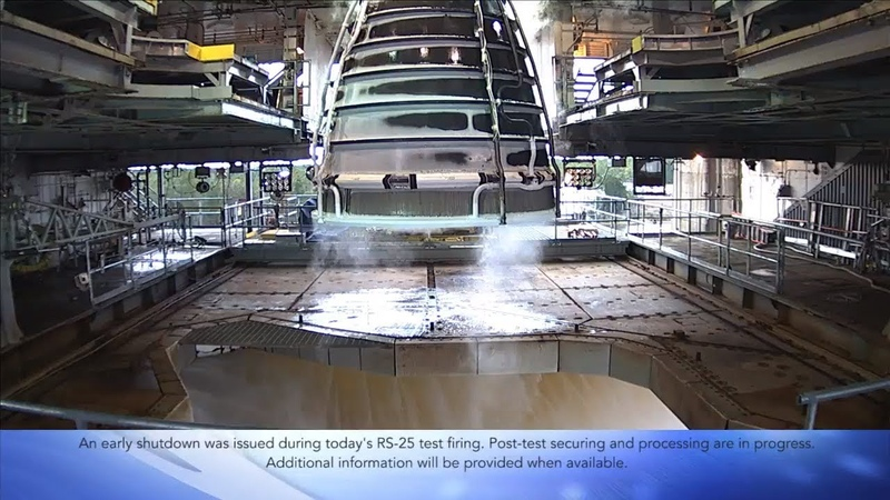 SLS RS-25 Engine Aborted Test, 12 December 2018