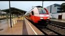Treinen op station Wien Penzing Wenen