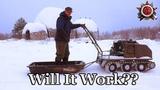 Mud Crawler On Tracks In 40cm Powder Snow 2019 (примерный перевод Гусеничный вездеход для грязи на снежных дорогах с порошковым снегом 40 см)