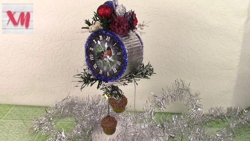 ЧАСЫ елочная игрушка/ Christmas clock. ХоббиМаркет