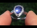 HGT Certified UNHEATED Natural VVS2 Color Change Sapphire Diamond 14k White Gold Ring - C778
