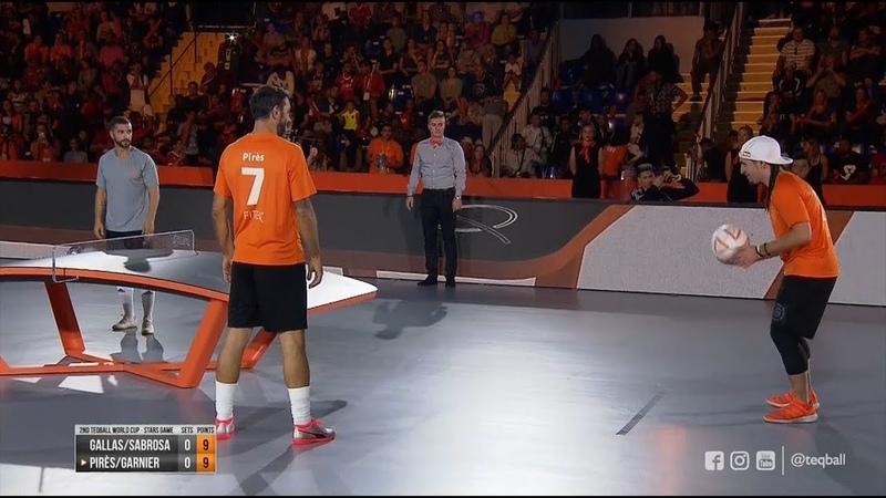 2nd Teqball World Cup - Stars Game (Robert PirèsSéan Garnier vs William GallasSimão Sabrosa)