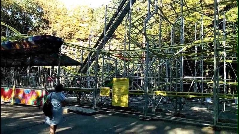 Мини Американские горки в парке Победы Ставрополя