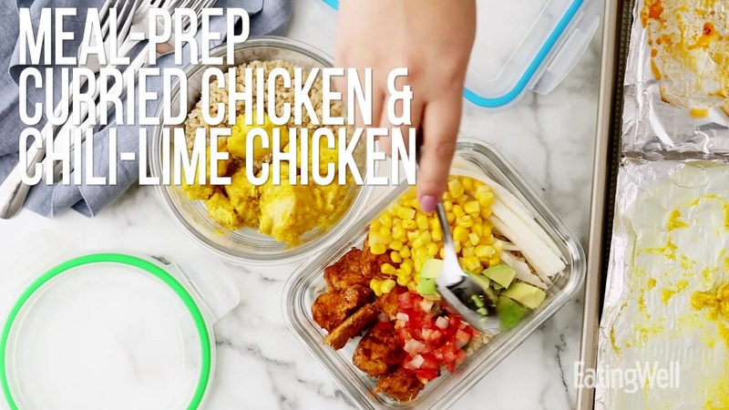How to Meal-Prep Curried Chicken Chili-Lime Chicken | EatingWell