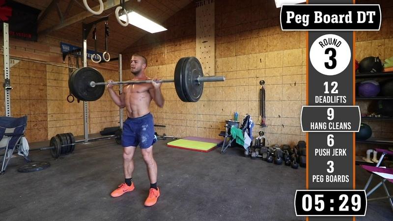 Jacob Heppner Full Crossfit Workout - Pegboard Heavy DT! (Source: Josh Bridges)