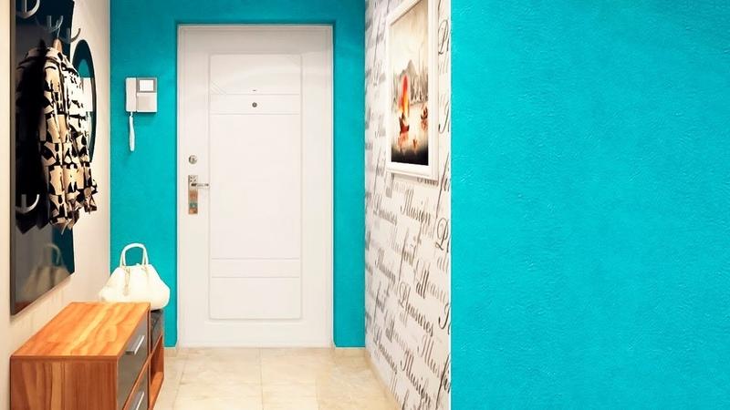 💗 Обои в прихожую и коридор | Комбинированные идеи - дизайн прихожей