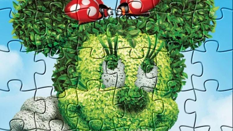 Пазл для детей Минни Маус / Minnie Mouse puzzle game for kids