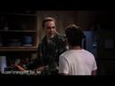 The Big Bang Theory The Big Bran Hypothesis s1e2 Сцена где Шелдон убирается с Лео в квартире Пенни