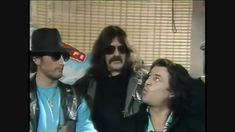 Deep Purple record signing and interview in Houston Texas 1985