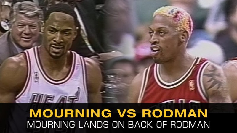 You Can Never Have Normal Foul With Dennis Rodman Vs. Alonzo Mourning! (Bulls @ Heat, 1997 Playoffs)