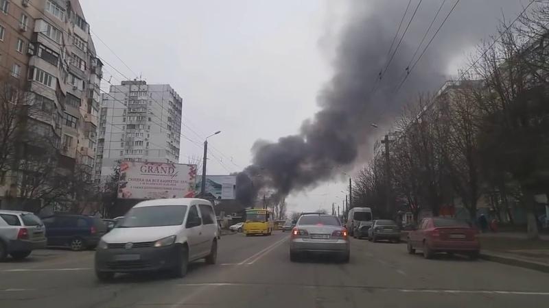 Сильный пожар в Одессе. Белый цветок. МЧС. Огонь. Люди без крова. Угольный котел. Печка. Зима. Ужас.