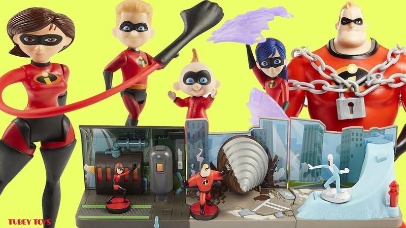 New Disney Pixar Incredibles 2 Toys Huge Haul Poseable Action Figures Mini Playsets Jakks Pacific