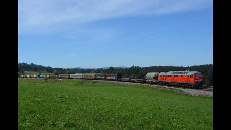 Arlbergumleiter am 29.08.18 – Güterzüge in Heimhofen im Allgäu