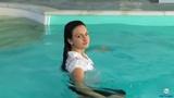 Ultimate Wetlook swim on pool wet girl