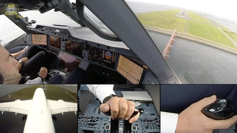 Airbus A350 Lufthansa ULTIMATE COCKPIT MOVIE Business Class Tokyo [AirClips full flight series]