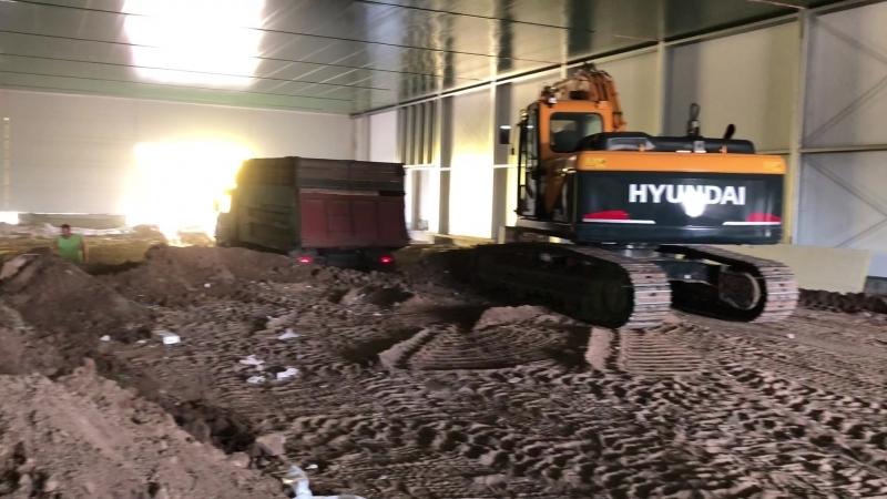 Добронравов Агро, строим хранилище, подготовка под подземные какалы