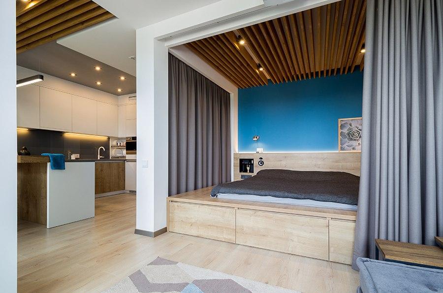 Замечательный интерьер квартиры-студии, 47 кв.