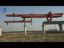 Bridge construction with full span launching equipment