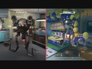 Сравнение графики Fallout 4 и 76