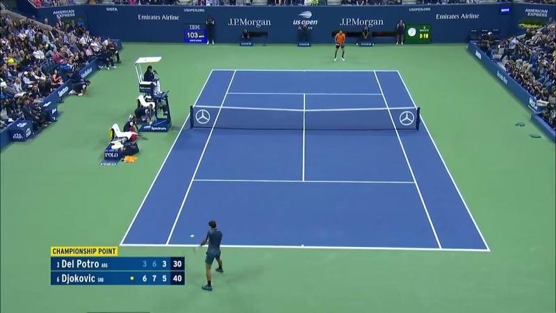 Championship Point Джокович - Дель Потро