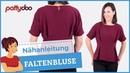 Nähanleitung für eine Statement-Bluse mit Falten, Kimonoärmeln und Beleg pattydoo