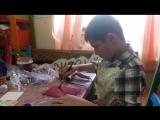Андрей доделывает пенал