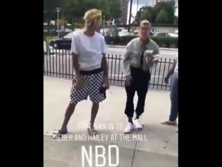 Vídeo de Justin Bieber e Hailey Baldwin em Atlanta, na Geórgia.
