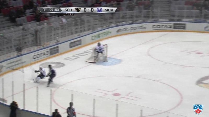 Моменты из матчей КХЛ сезона 14 15 Гол 1 0 Илья Крикунов Сочи открыл счёт в матче отличившись в меньшинстве 05 12