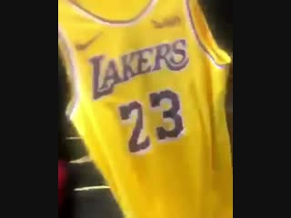 Welcome to LA #kingjames 💜💛 thank you for the jersey neffew ! Now let's go get that championship 🏆 time to #23 #lakers