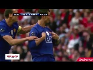 Шикарный гол Роналду со штрафного в полуфинале ЛЧ 2008/09