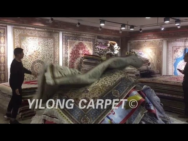 Pick out pure silk handmade Oriental carpets.