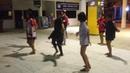 Тайские танцы на паромной станции на Пангане