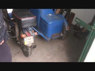 Мопед ДЕЛЬТА с коляской и на газу.