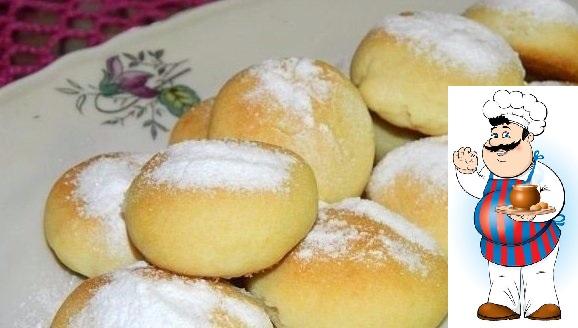 НЕЖНОЕ ПЕЧЕНЬЕ ИНГРЕДИЕНТЫ: 1 пачка (180 г) масла сливочного полстакана сахарной пудры в тесто полтора стакана муки полстакана крахмала картофельного сахарная пудра по вкусу для посыпки четверть