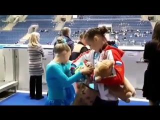ISU JGP Bratislava 2018 Анна Щербакова перед Церемонией Награждения