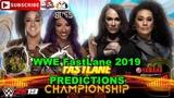 WWE FastLane 2019 Womens Tag Team Championship Sasha Banks &amp Bayley vs. Nia Jax &amp Tamina WWE 2K19