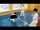 Мае гери тюдан тюсоку в Кёкусинкай Карате Али Джалали и Саша Демченко Дети 2 3 класс Учимся бить Учимся стоять в стоечке