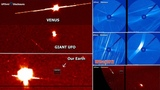 Images from NASA shows an object 100 times larger than Earth coming out of the Sun