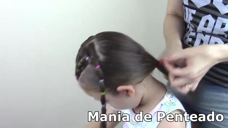 Penteado Infantil fácil com ligas
