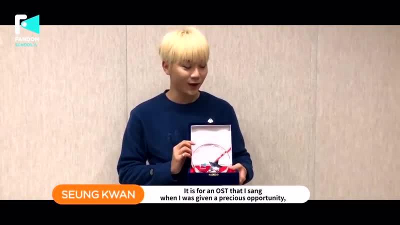 Fandom School Awards Best OST - 승관 SEUNGKWAN Winner Speech (12)