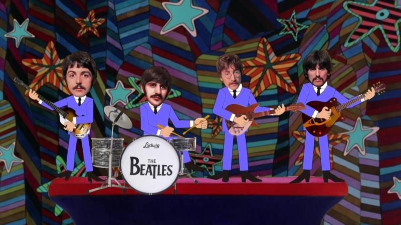 Видео поздравление Арсению 8 лет - Beatles Yellow Submarine