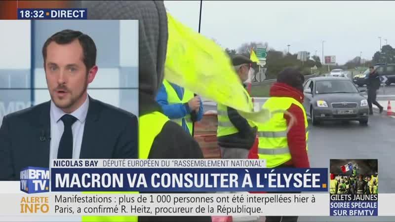 Bay dit que les bénéficiaires des taxes sont les migrants (BFMTV, 09/12/18, 18h31)